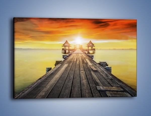Obraz na płótnie – Powolutku przez mostek w stronę słońca – jednoczęściowy prostokątny poziomy KN1357A