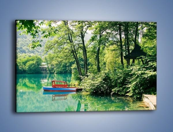 Obraz na płótnie – Wakacje nad jeziorem – jednoczęściowy prostokątny poziomy KN155