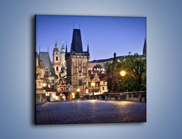 Obraz na płótnie – Most Karola w Pradze – jednoczęściowy kwadratowy AM556