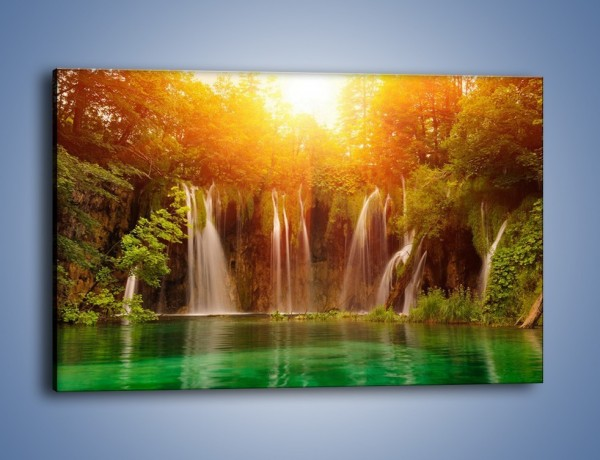 Obraz na płótnie – Fontanny z wodospadów – jednoczęściowy prostokątny poziomy KN231