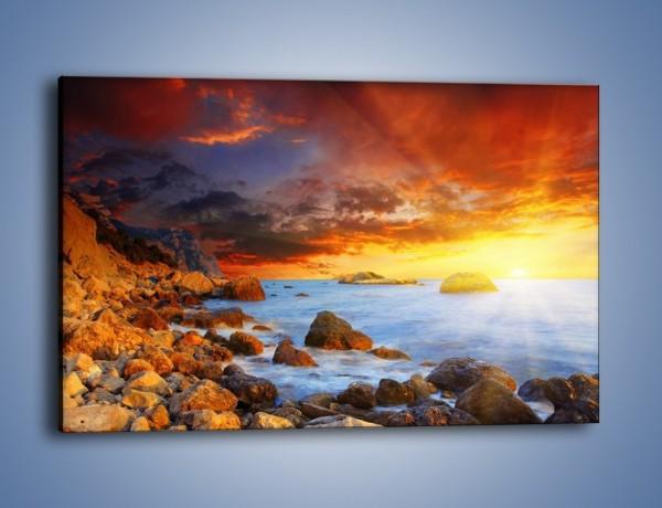 Obraz na płótnie – Słońce odbite w kamieniach – jednoczęściowy prostokątny poziomy KN267
