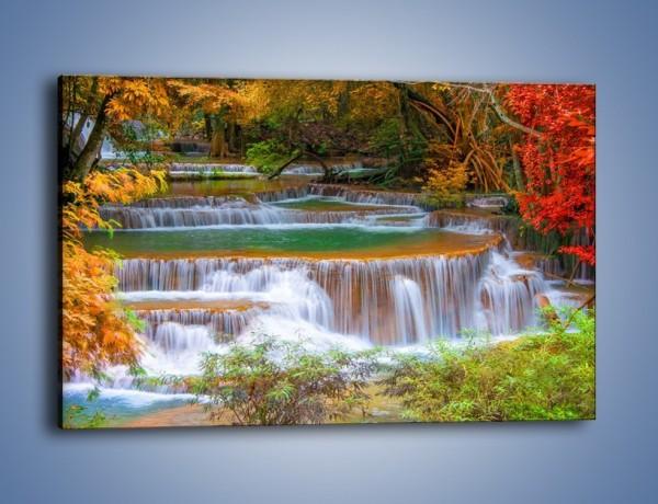 Obraz na płótnie – Schodki z wodospadów – jednoczęściowy prostokątny poziomy KN287