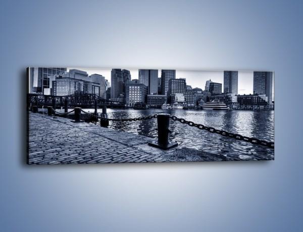 Obraz na płótnie – Wybrukowana wybrzeże miasta – jednoczęściowy panoramiczny AM132