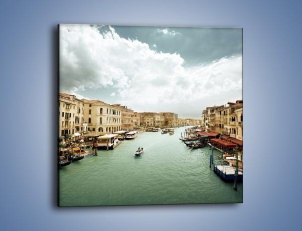 Obraz na płótnie – Cieśnina Canal Grande w Wenecji – jednoczęściowy kwadratowy AM559
