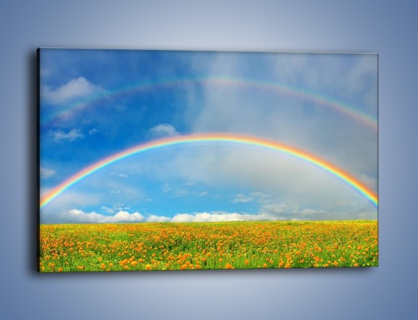 Obraz na płótnie – Urok kolorowej tęczy – jednoczęściowy prostokątny poziomy KN406