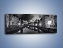 Obraz na płótnie – Urokliwe miasteczko nad kanałem wodnym – jednoczęściowy panoramiczny AM134