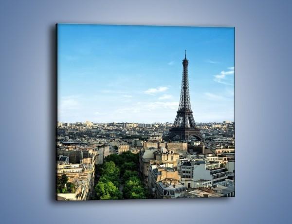 Obraz na płótnie – Wieża Eiffla w Paryżu – jednoczęściowy kwadratowy AM561