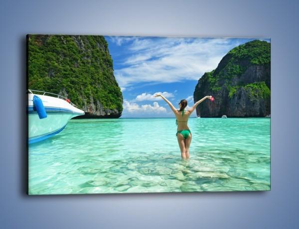 Obraz na płótnie – Udane wakacje w ciepłych krajach – jednoczęściowy prostokątny poziomy KN530