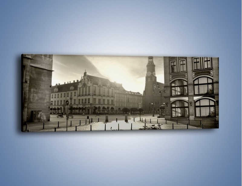 Obraz na płótnie – Rynek Starego Miasta – jednoczęściowy panoramiczny AM136