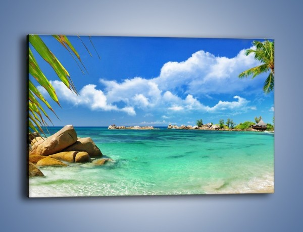 Obraz na płótnie – Tropikalna wyspa z katalogu – jednoczęściowy prostokątny poziomy KN565