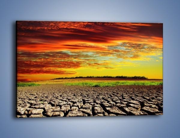 Obraz na płótnie – Spękane chmury i ziemia – jednoczęściowy prostokątny poziomy KN602