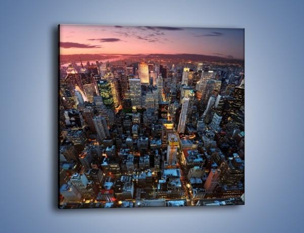 Obraz na płótnie – Widok na Manhattan z lotu ptaka – jednoczęściowy kwadratowy AM567
