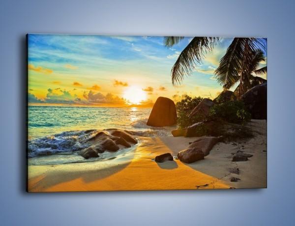 Obraz na płótnie – Spacer na bezludnej wyspie – jednoczęściowy prostokątny poziomy KN671