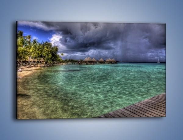 Obraz na płótnie – Wyspa okryta burzą – jednoczęściowy prostokątny poziomy KN716