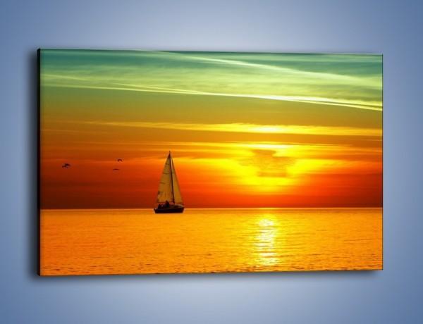 Obraz na płótnie – Rejs przy zachodzie słońca – jednoczęściowy prostokątny poziomy KN723