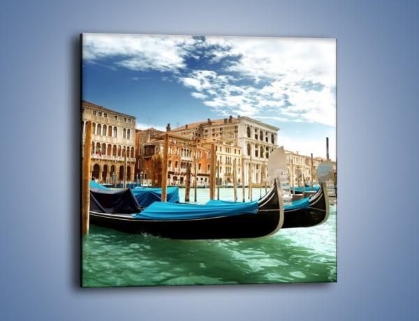 Obraz na płótnie – Weneckie gondole w Canal Grande – jednoczęściowy kwadratowy AM571
