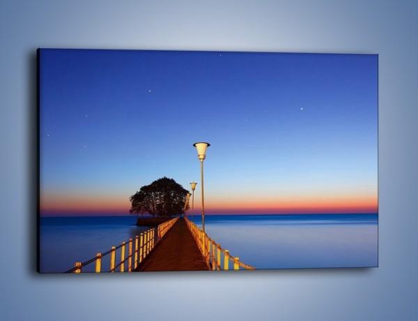 Obraz na płótnie – Wieczorny spacer po tafli morza – jednoczęściowy prostokątny poziomy KN759