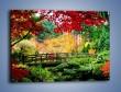 Obraz na płótnie – Mostem do roślinnego raju – jednoczęściowy prostokątny poziomy KN782