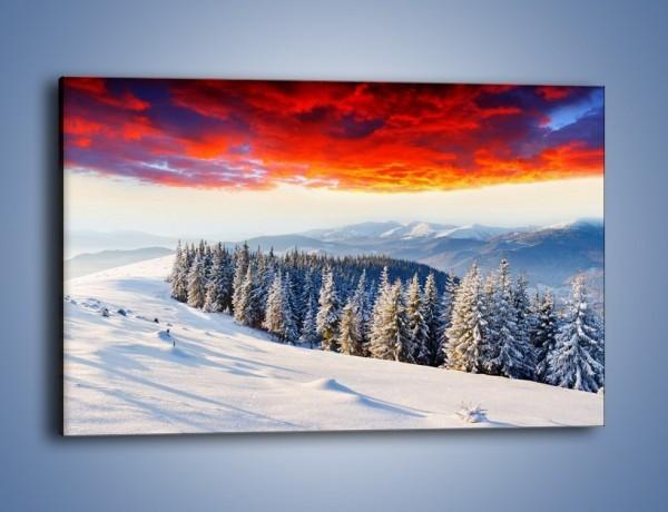 Obraz na płótnie – Cały urok gór zimą – jednoczęściowy prostokątny poziomy KN805