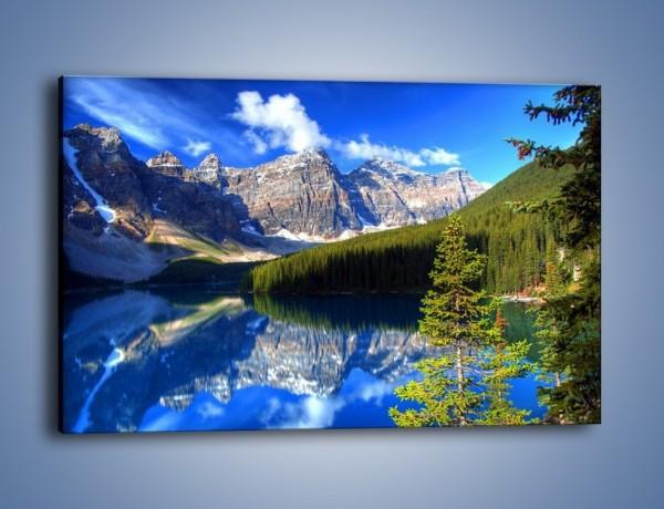Obraz na płótnie – Góry i ich wodne odbicie – jednoczęściowy prostokątny poziomy KN839