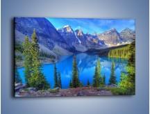 Obraz na płótnie – Górska woda czysta jak niebo – jednoczęściowy prostokątny poziomy KN840