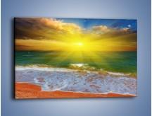 Obraz na płótnie – Mały krok do morza – jednoczęściowy prostokątny poziomy KN842
