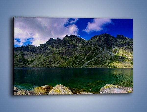 Obraz na płótnie – Horyzont górskich szczytów – jednoczęściowy prostokątny poziomy KN856