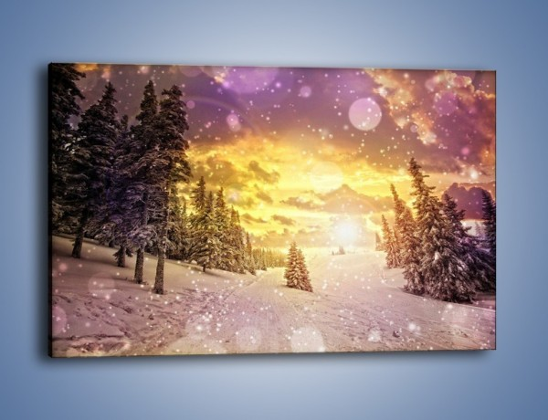 Obraz na płótnie – Śnieżna kraina – jednoczęściowy prostokątny poziomy KN868