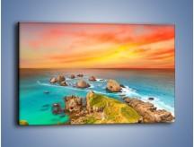 Obraz na płótnie – Kolory rozpalonego nieba nad wodą – jednoczęściowy prostokątny poziomy KN879
