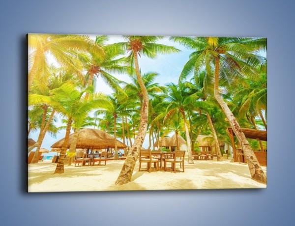 Obraz na płótnie – Słoneczna sjesta pod palmami – jednoczęściowy prostokątny poziomy KN886
