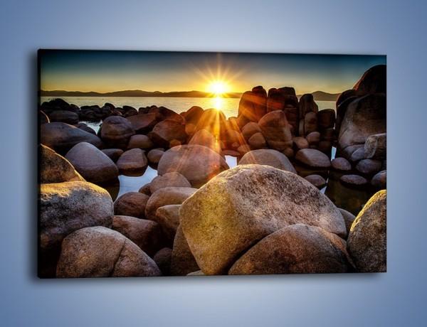 Obraz na płótnie – Kamienna wyspa w słońcu – jednoczęściowy prostokątny poziomy KN888