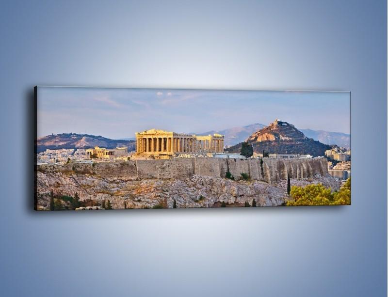 Obraz na płótnie – Ateńskie ruiny – jednoczęściowy panoramiczny AM162