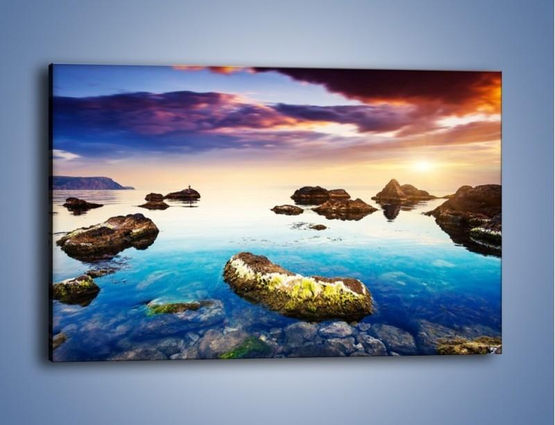 Obraz na płótnie – Kamienie nie tylko pod wodą – jednoczęściowy prostokątny poziomy KN912