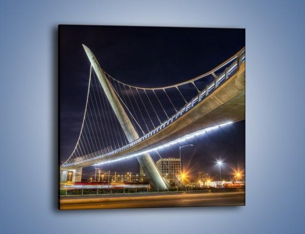 Obraz na płótnie – Harbor Drive Pedestrian Bridge – jednoczęściowy kwadratowy AM578