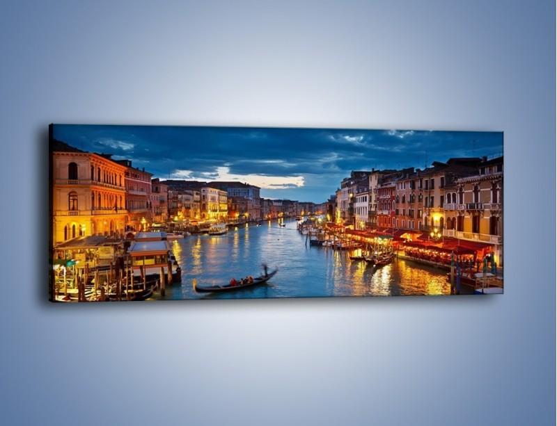 Obraz na płótnie – Wenecja romantyczną porą – jednoczęściowy panoramiczny AM163