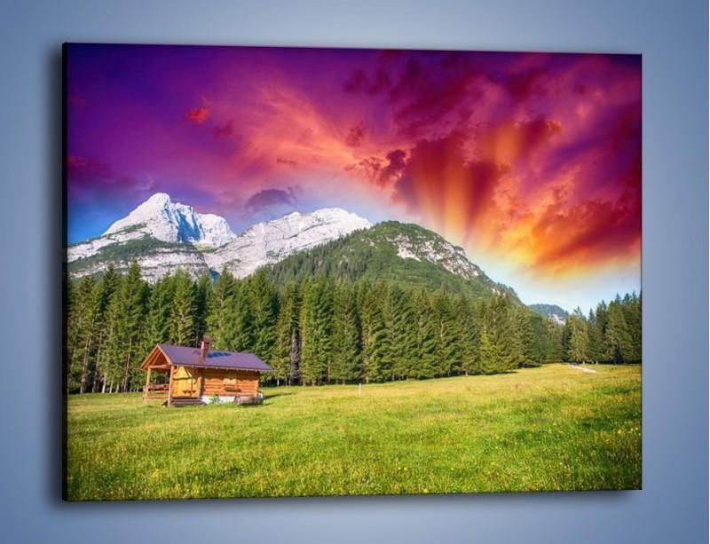 Ogromny Obraz na płótnie – Mały domek w górach – jednoczęściowy HS93