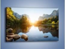 Obraz na płótnie – Mocne uderzenie słońca – jednoczęściowy prostokątny poziomy KN961
