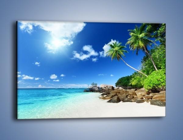 Obraz na płótnie – Rajska plaża i jej piękno – jednoczęściowy prostokątny poziomy KN963