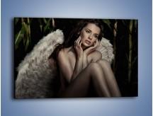 Obraz na płótnie – Anioł i jego tęsknota – jednoczęściowy prostokątny poziomy L011