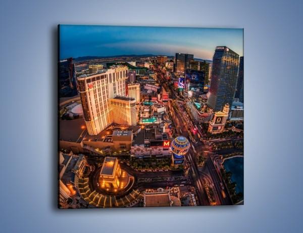 Obraz na płótnie – Centrum Las Vegas – jednoczęściowy kwadratowy AM588