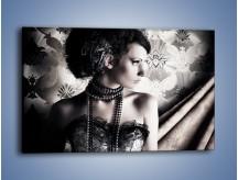 Obraz na płótnie – Czarny kobiecy charakter – jednoczęściowy prostokątny poziomy L095
