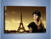 Obraz na płótnie – Czarna dama w paryżu – jednoczęściowy prostokątny poziomy L114