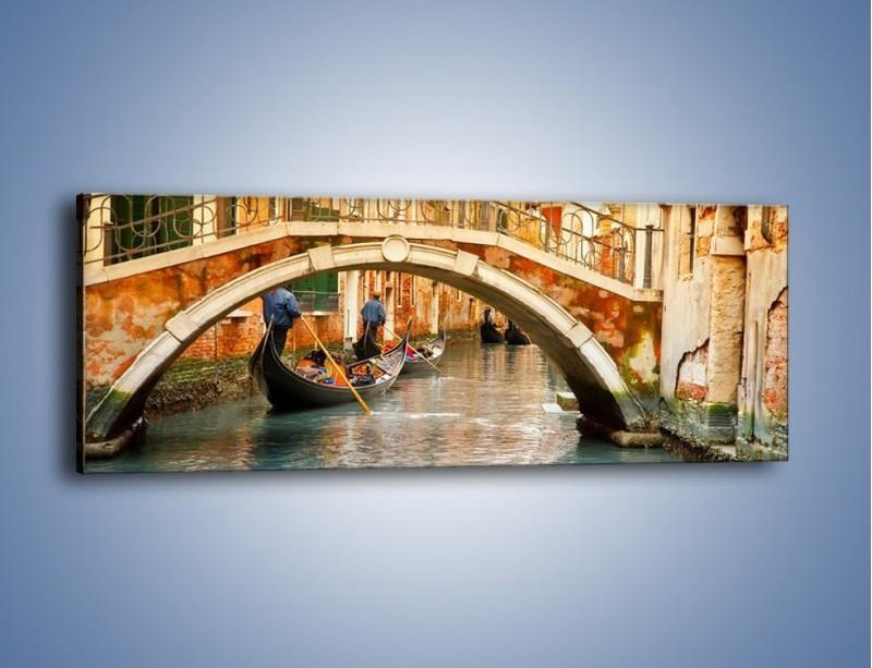 Obraz na płótnie – Weneckie gondole – jednoczęściowy panoramiczny AM172