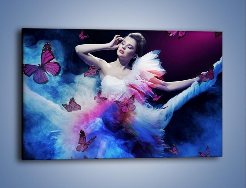Obraz na płótnie – Bajkowy spacer z motylami – jednoczęściowy prostokątny poziomy L127