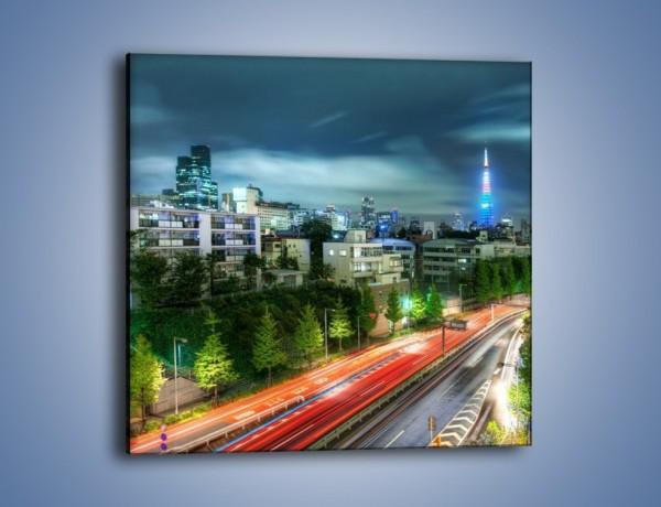Obraz na płótnie – Miasto Roppongi w Japonii – jednoczęściowy kwadratowy AM593