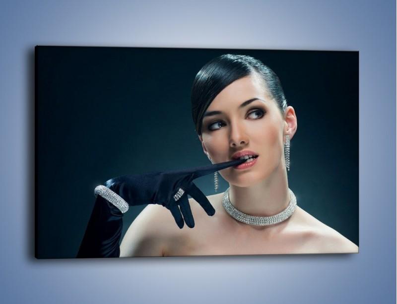 Obraz na płótnie – Czarna dama w diamentach – jednoczęściowy prostokątny poziomy L171