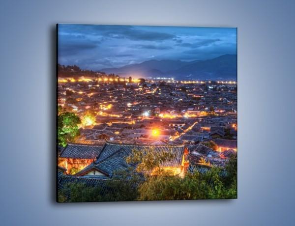 Obraz na płótnie – Miasteczko Lijiang w Chinach – jednoczęściowy kwadratowy AM597