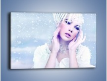 Obraz na płótnie – Delikatna królowa śniegu – jednoczęściowy prostokątny poziomy L224