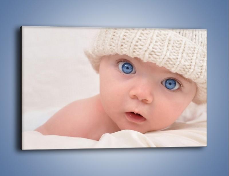 Obraz na płótnie – Błękitne oczy dzidziusia – jednoczęściowy prostokątny poziomy L260