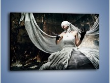 Obraz na płótnie – Dama w białych bandażach – jednoczęściowy prostokątny poziomy L278